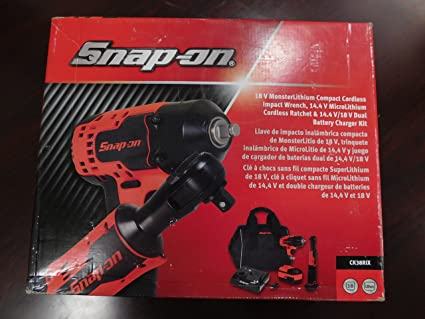 Snap-On Set of 2: 18 Volt Cordless Impact Wrench & 14 4 Volt