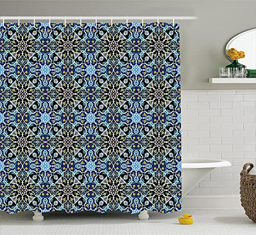 marocain Rideau de douche, bohème orientale Arabic Pattern ...