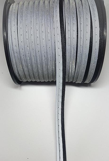 1m 3m 5m Reflektierendes Paspelband zum Einnähen Reflektorband 10 mm 2 Farben