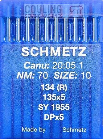 SCHMETZ - Agujas para máquina de Coser (10 Unidades, Sistema 134 ...