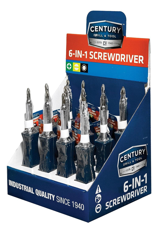 Amazon.com: Century Drill and Tool 72196 Screwdriver Set, 6 Piece ...