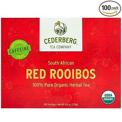 Red Rooibos Tea 100 Teabags Usda Organic Naturally Caffeine Free Cederberg Tea Company
