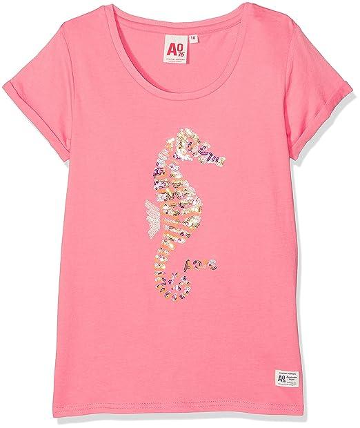 AO 76 t-Shirt Seahorse, Camiseta para Niñas, Rosa (Pink 528), 8 años: Amazon.es: Ropa y accesorios