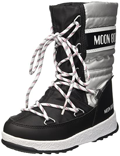 a33f00a12f37 Moon-boot Unisex Kids  We We Quilted Jr Met Wp Snow Boots  Amazon.co ...