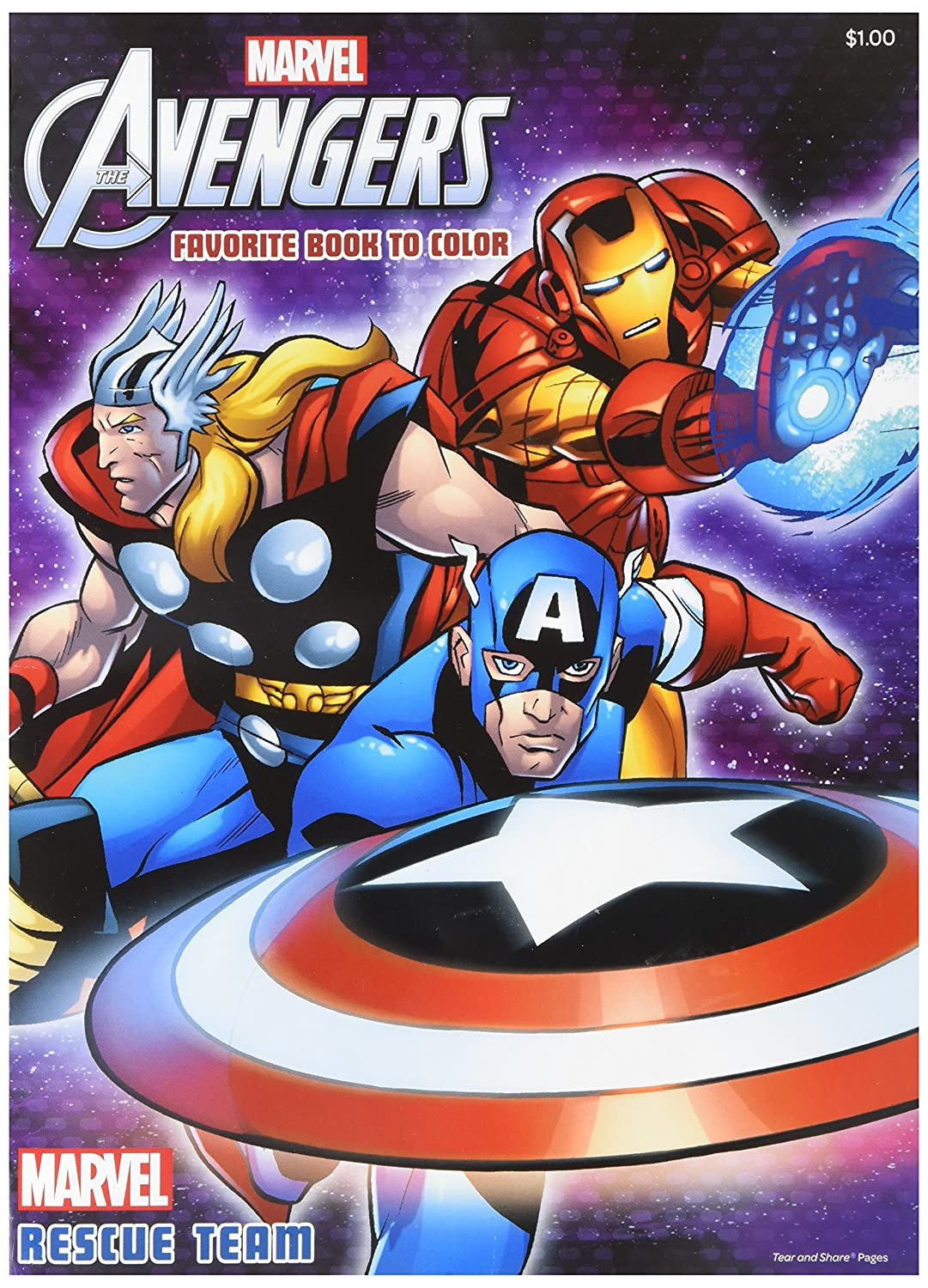 Dalmatian Press Inc. The Mighty Avengers Favorite Book To Color Rescue Team Tear /& Share Pages Coloring /& Activity Book: 32 Pages!!