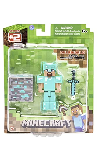 Hot Topic Minecraft Series #2 Steve With Diamond Armor Action Figure