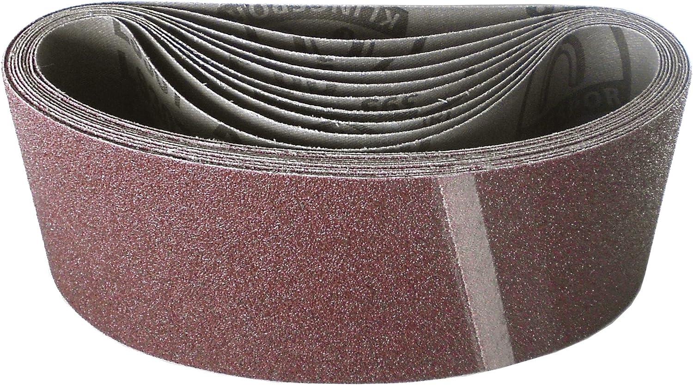 Klingspor LS 307 X Ruban abrasif 75 x 457 mm 10 pi/èces Grains LS 307 X au choix