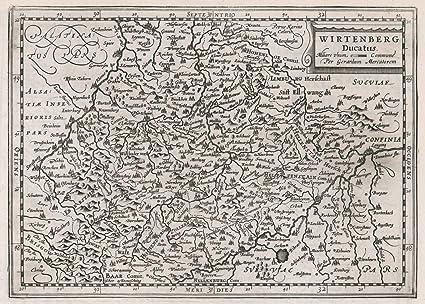 Amazon com: historic pictoric 1636 World Atlas | Wirtenberg