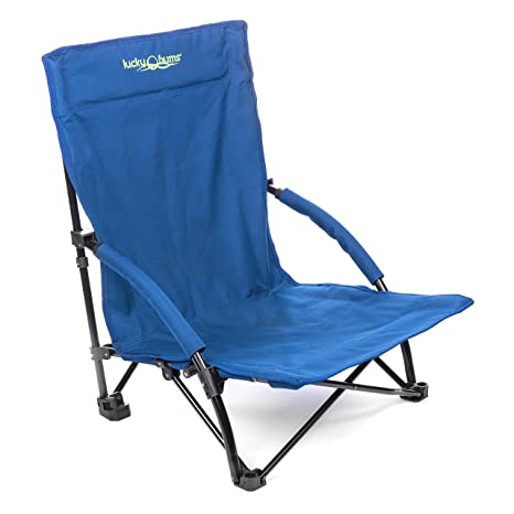 Lucky Bums Folding Sling Beach Chair, Navy, Large