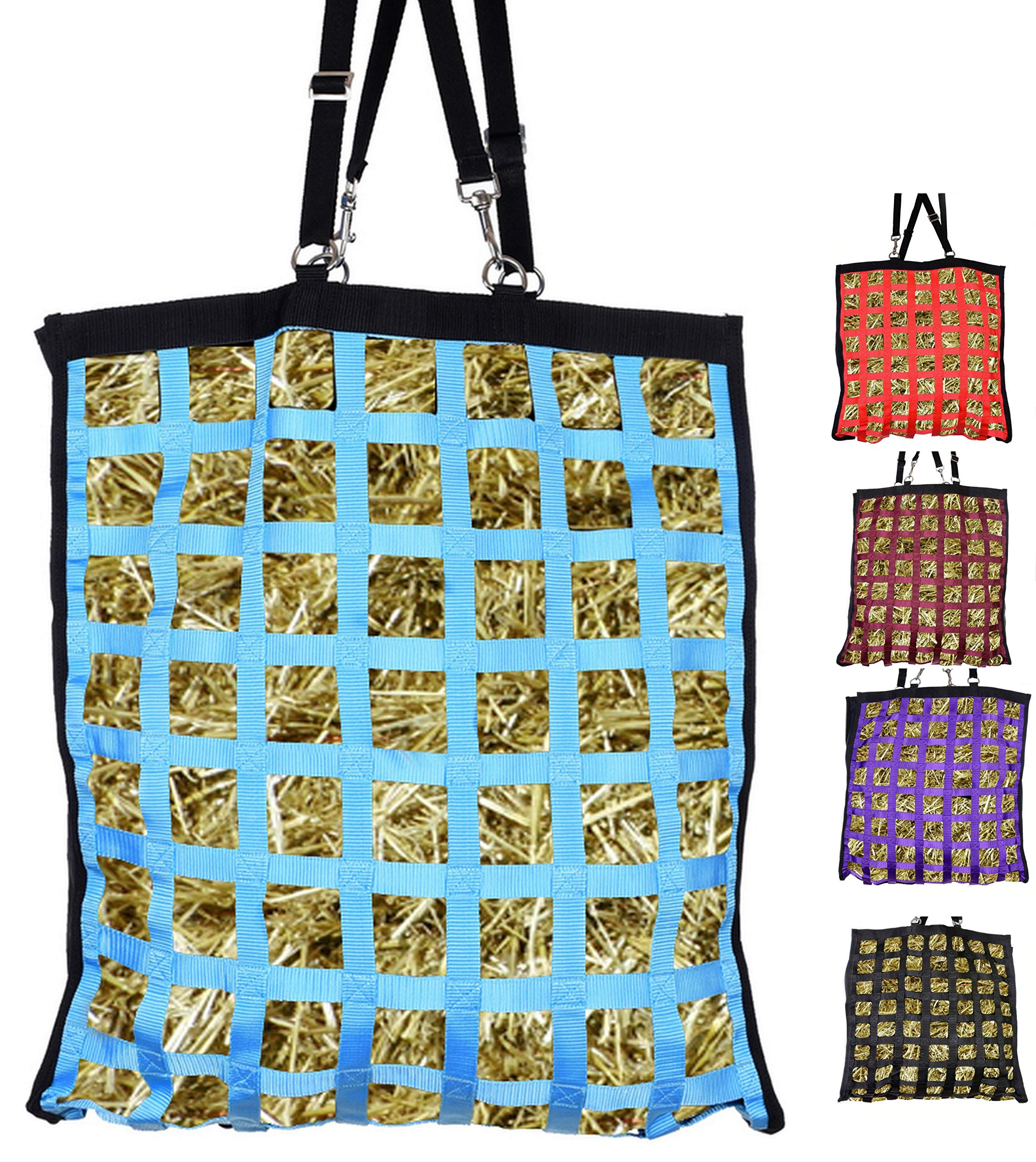 Westride Slow Feed Hay Bag with Newly Designed Super Tough Bottom 2 Sided (Turquoise) by Westride