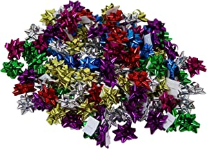 120-Count Mini Holiday Bows (1-Inch), Assorted Colors, by Iconikal