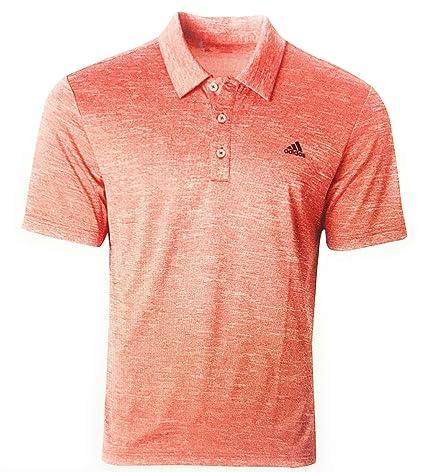 19ff4493 Amazon.com : adidas Advantage Men's Heather Golf Polo, (Scarlet  Camel/Grey/Black, L) : Sports & Outdoors