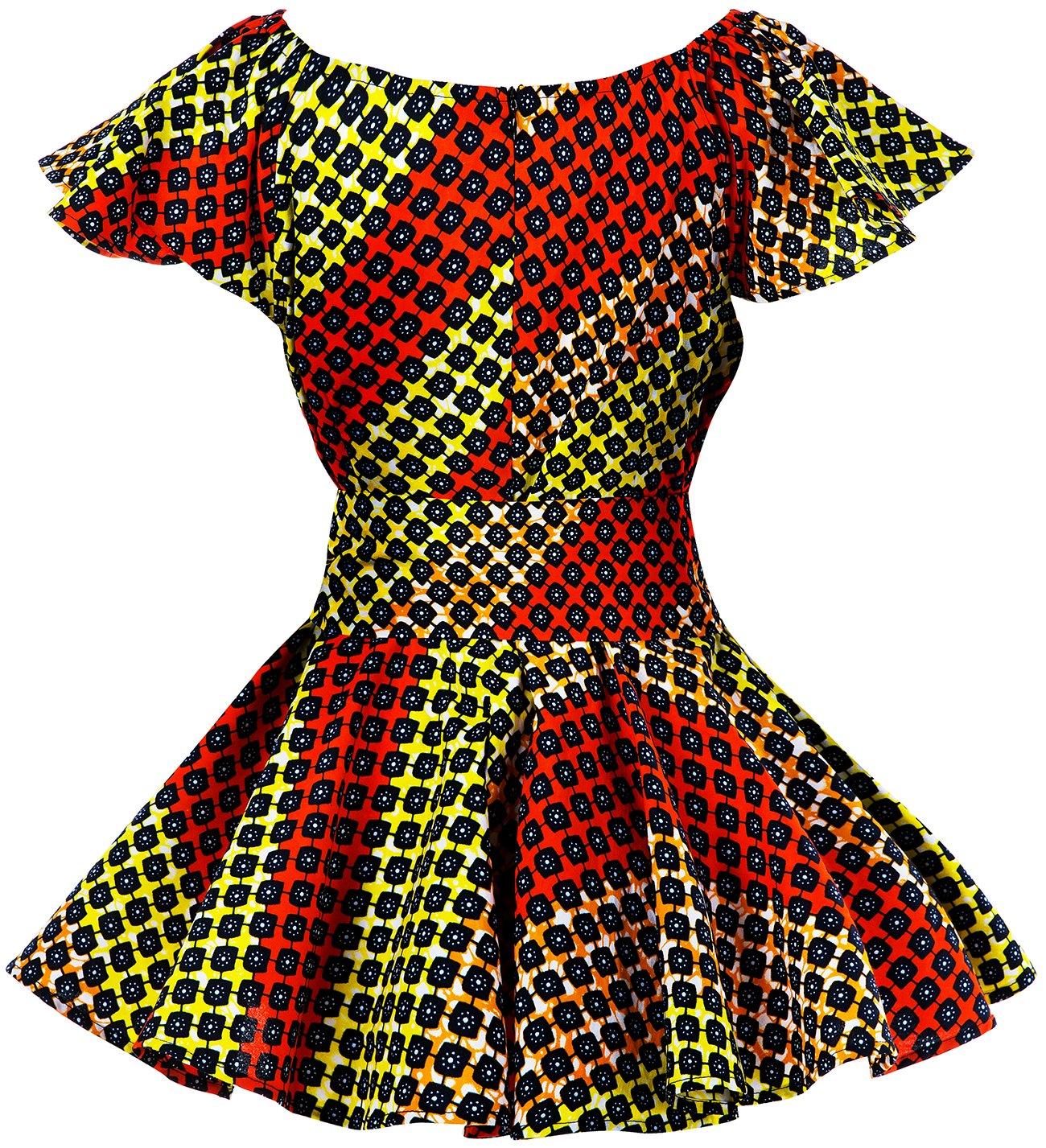Shenbolen Womens Dashiki Tops Sleeveless Summer African Printed Slim Fit Shirts Blouse (Medium,B) by Shenbolen (Image #2)