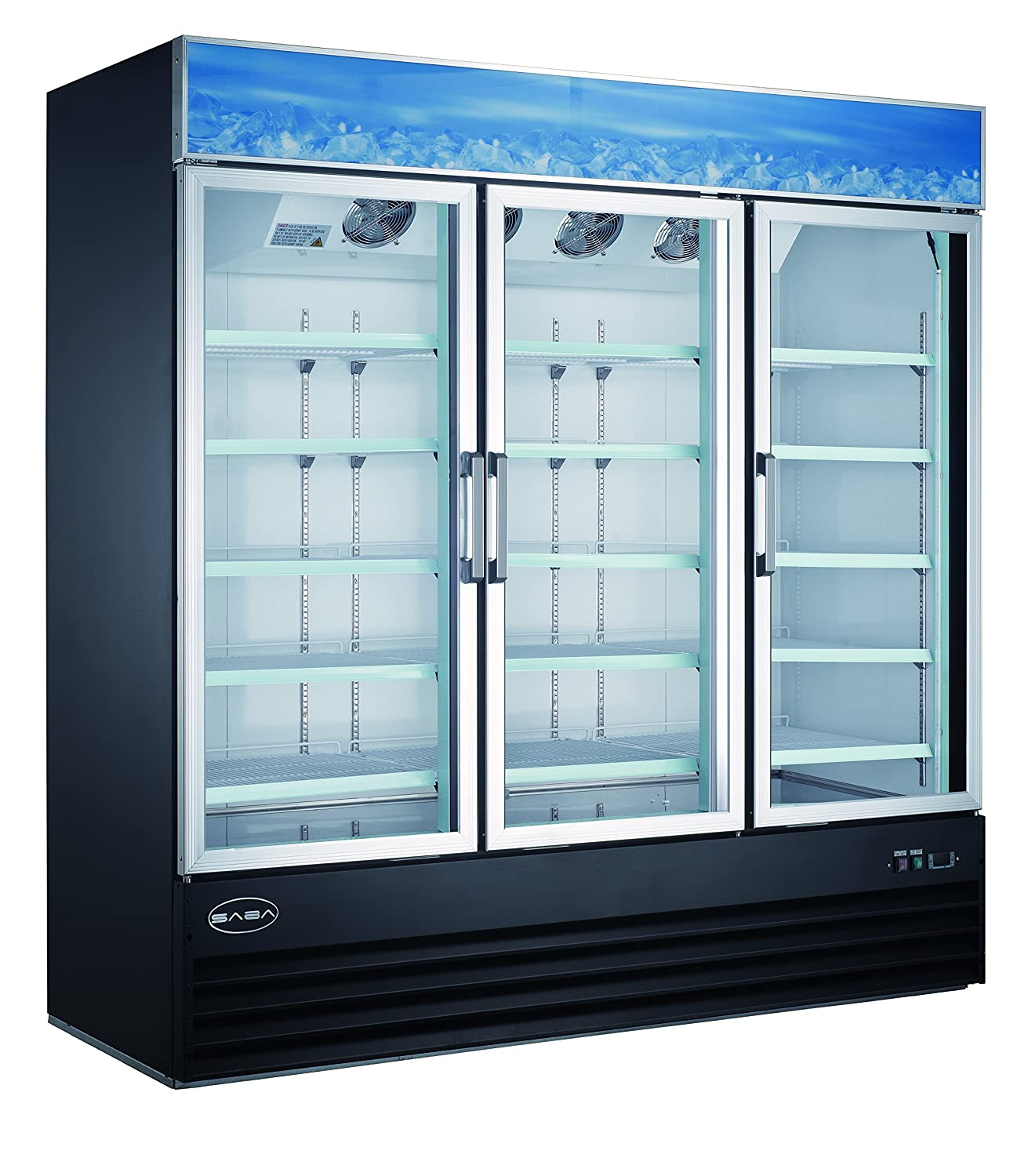 Saba Air SGDM72F Three Door Merchandiser Freezer SM-72F