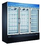 Three Glass Door Reach-In Freezer Merchandiser Display Case