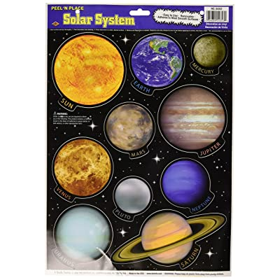 Solar System Peel 'N Place Party Accessory (1 count) (10/Sh): Wall Decor Stickers: Kitchen & Dining