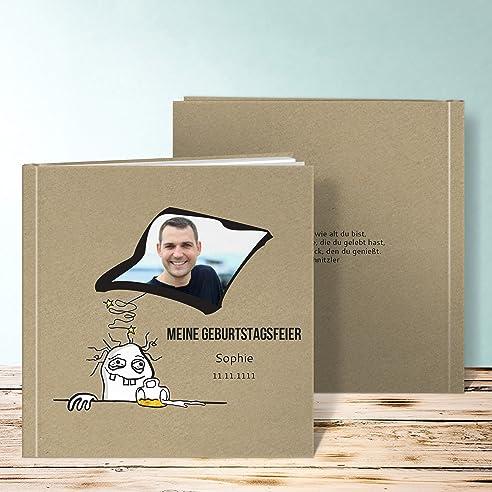 Fotobuch 30 Geburtstag, Hangover 28 Seiten, Hardcover 215x215 Mm  Personalisierbar, Braun