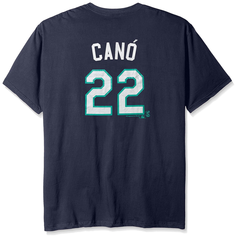 MLB Seattle Mariners Cano # 22メンズShort Sleeved Two Sided高密度名番号ティー、3 x、ネイビー   B0195LZBXK