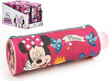 Estuche de tela cilindrico con asa medidas 20 X 8 X 8,5 cm diseño Minnie: Amazon.es: Juguetes y juegos