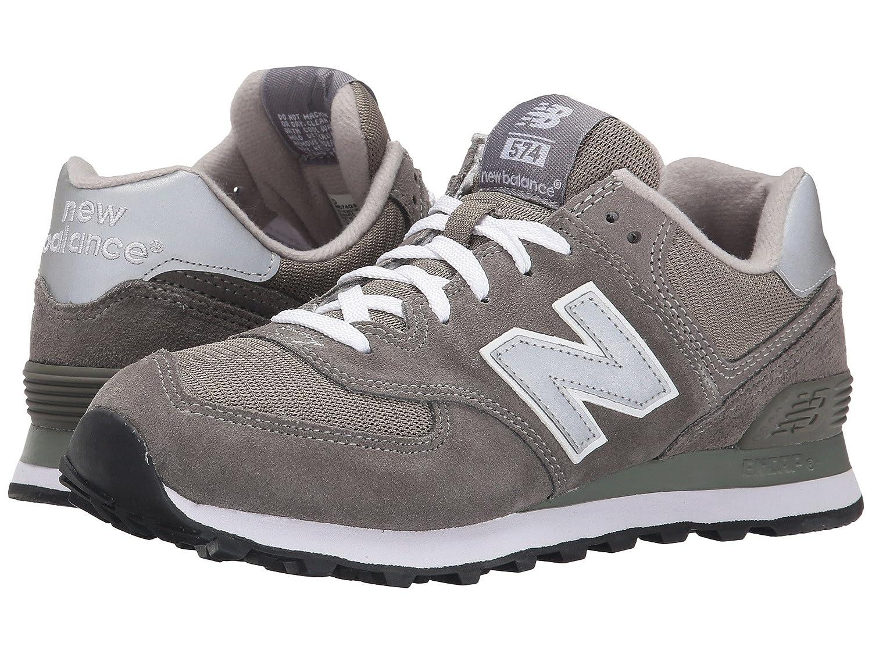 (ニューバランス) New Balance メンズランニングシューズスニーカー靴 M574 Gray/Silver/White グレー/シルバー/ホワイト 9 (27cm) EE B0788V8WLG