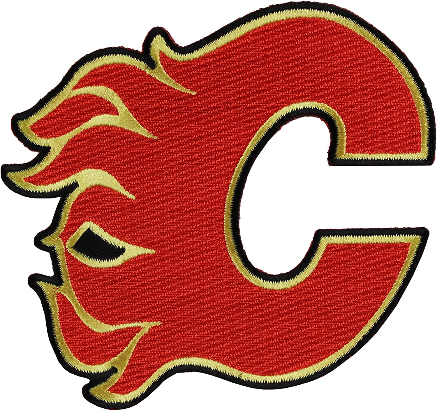 Amazon Com Calgary Flames Team Logo Patch Sports Related Merchandise Clothing
