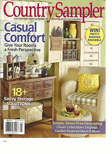 Amazon.com: COUNTRY SAMPLER, MAY, 2013 (DECORATING IDEAS & WHERE TO ...