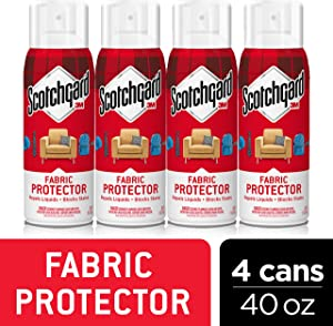 Scotchgard Fabric & Upholstery Protector, Repels Liquids, Blocks Stains, 40 Ounces