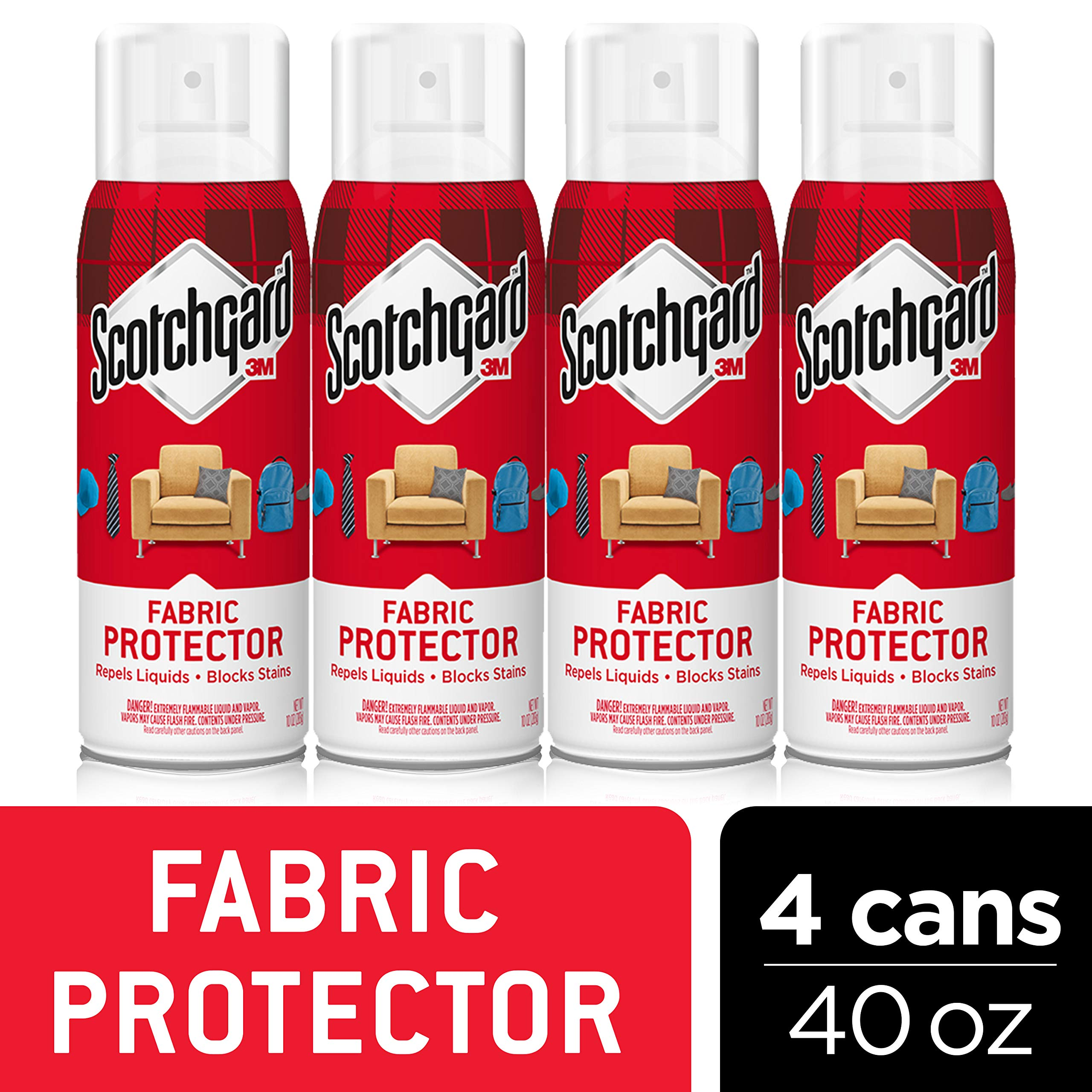 Scotchgard Fabric & Upholstery Protector, Repels Liquids, Blocks Stains, 40 Ounces by Scotchgard