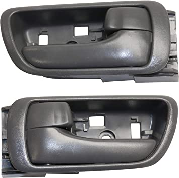 Amazon Com Interior Door Handles Compatible With Toyota Camry 02 06 Set Of 2 Front Or Rear Left And Right Side Plastic Gray W Door Lock Button Automotive