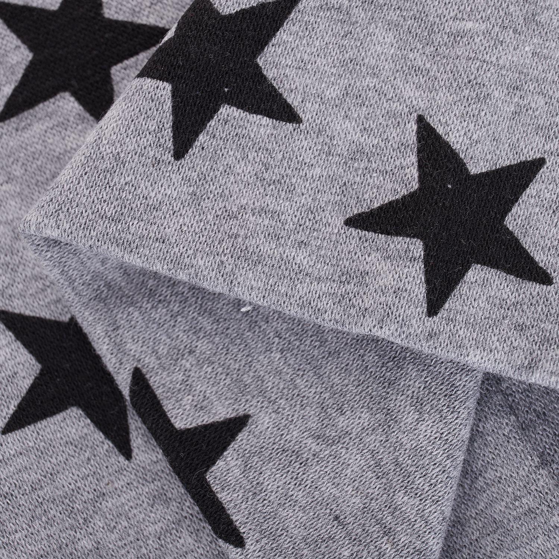 JVSISM Ninos Ninos Ninas Estrellas Patrones Sombrero de punto suave lindo Gorros Cap gris
