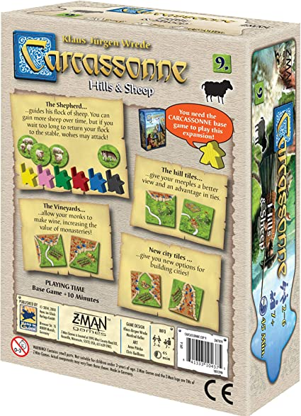 Z-Man Games Carcassonne Expansion 9: Hills and Sheep: Amazon.es: Juguetes y juegos
