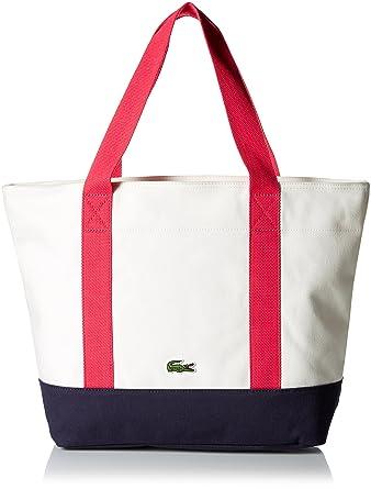 2b8e410d28 Amazon.com  Lacoste Women s Summer Medium Canvas Shopping Bag ...