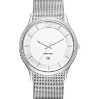 Danish Design Men's Quartz Watch with White Dial Analogue Display and Silver Stainless Steel Strap DZ120214