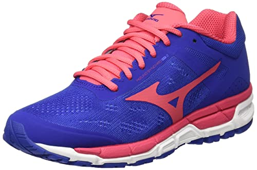 Mizuno Synchro MX W, Zapatillas de Running Para Mujer, Multicolor (Black/Silver/FieryCoral), 38 EU amazon-shoes el-negro