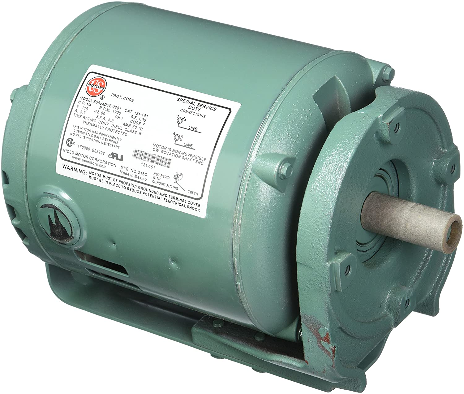 Taco 121-151RP Replacement Motor Assembly, 1/4 HP, 115-Volt ...