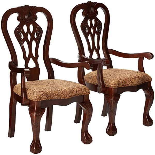 247SHOPATHOME IDF-3212AC Dining-Chairs, Brown Cherry