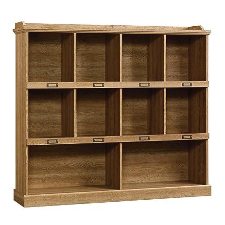 Amazon Com Sauder Barrister Lane Bookcase Scribed Oak Finish