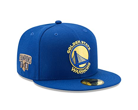 10cb46a788a New Era Golden State Warriors 2018 NBA Finals Champions 59Fifty Side Patch Fitted  Hat (7
