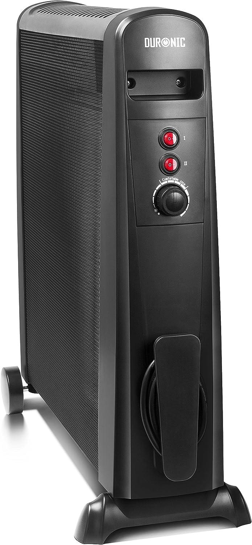Duronic HV101 Radiador Eléctrico 2500W de Panel de Mica - Estufa sin aceite que calienta en 1 minuto – Bajo consumo y ligero