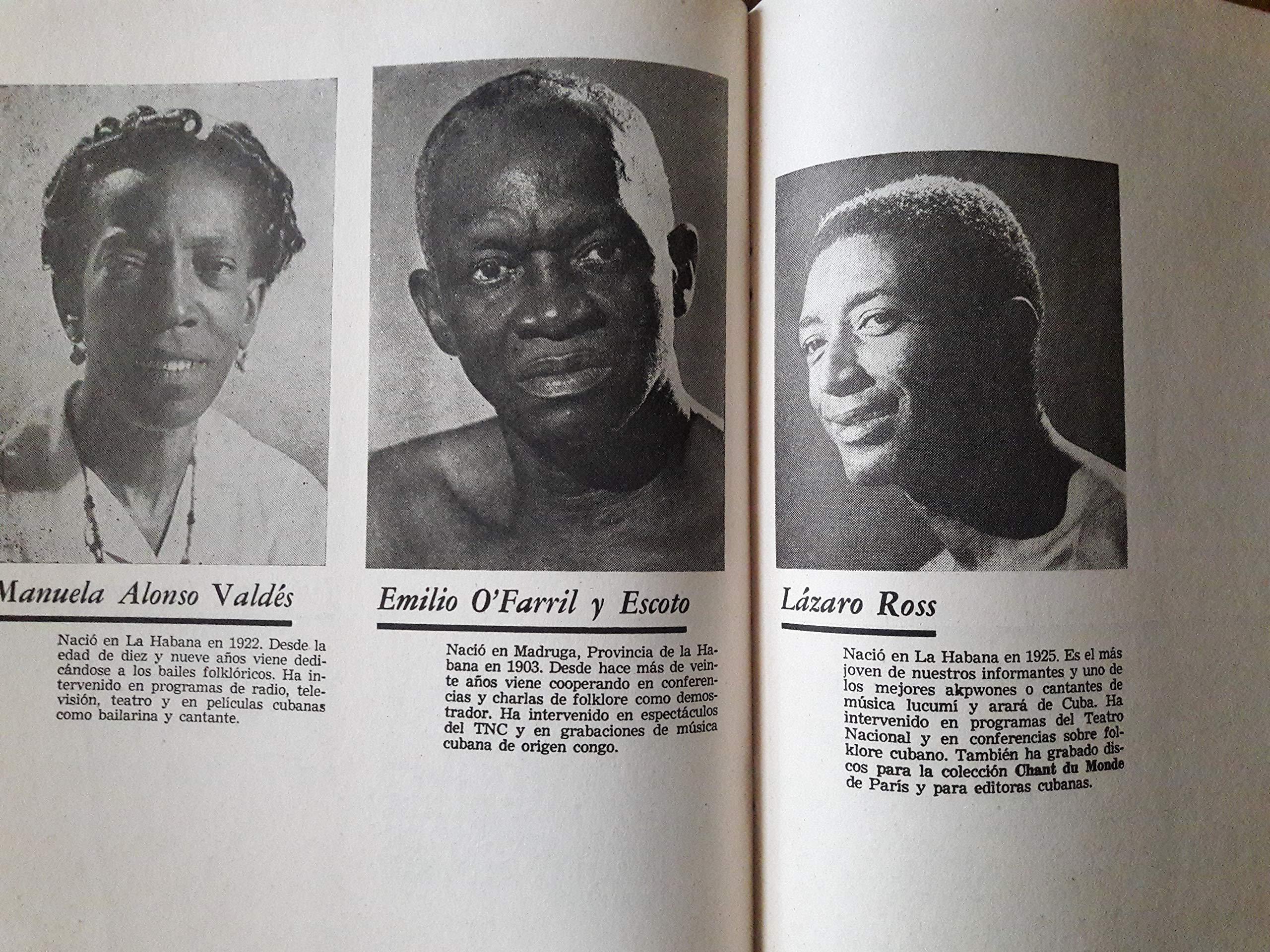 Conjunto folklorico nacional.cantos, bailes y danzas de nuestro folklore.primera edicion habana cuba 1963.: publicaciones del consejo nacional de cultura, ...