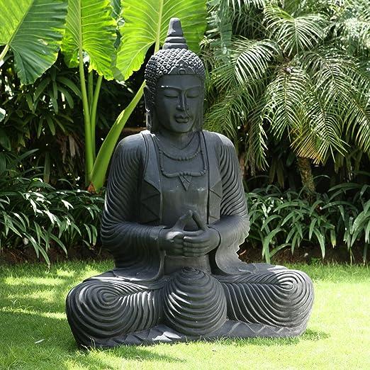 Estatuas Tamaño Grande Garden - rezando figura decorativa de Buda escultura de piedra: Amazon.es: Jardín