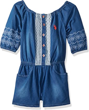 Childrens Apparel U.S Toddler Girls Tencel Denim Pick SZ//Color. US Polo Assn