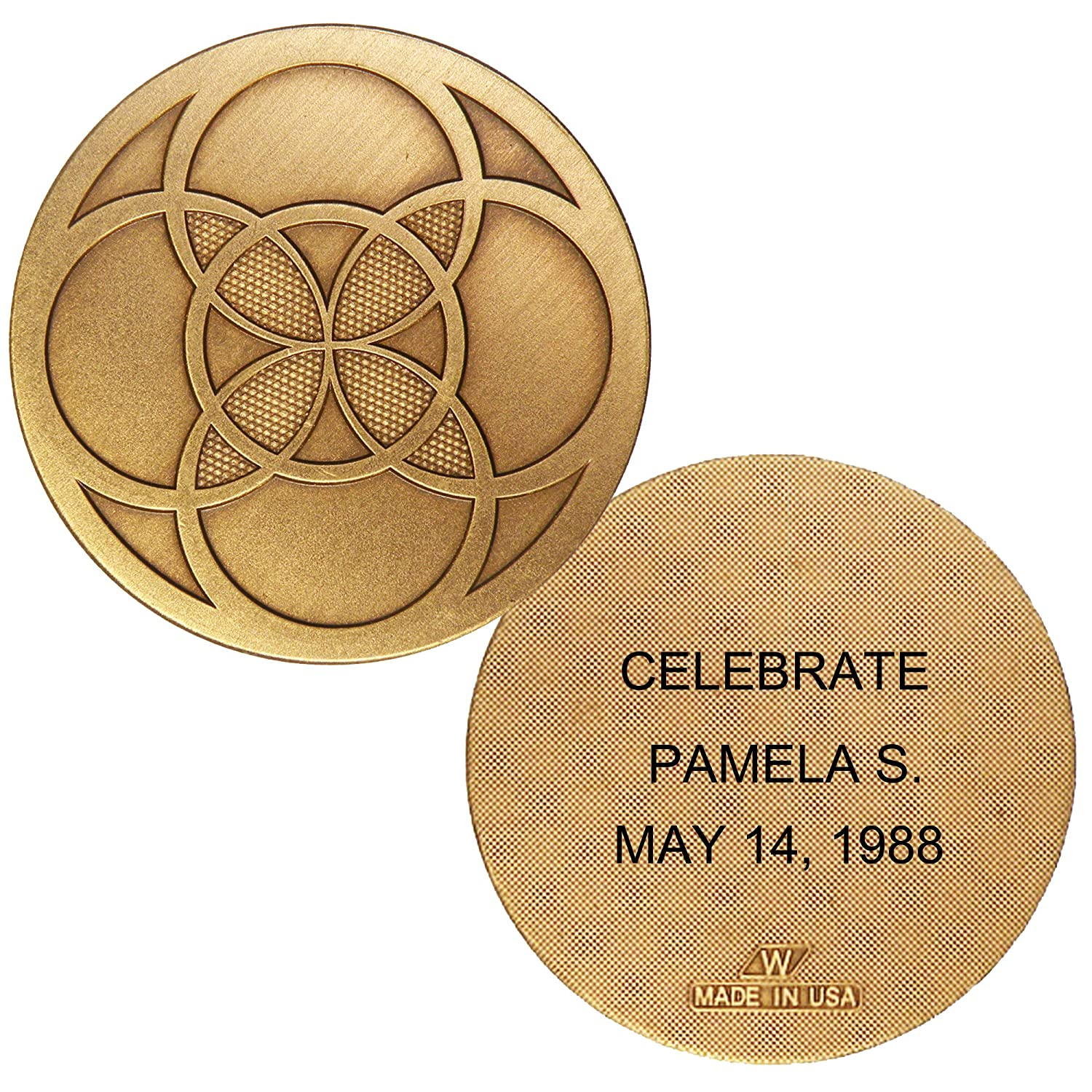 Amazon com: Custom Personalized Engraved Renewal Bronze AA