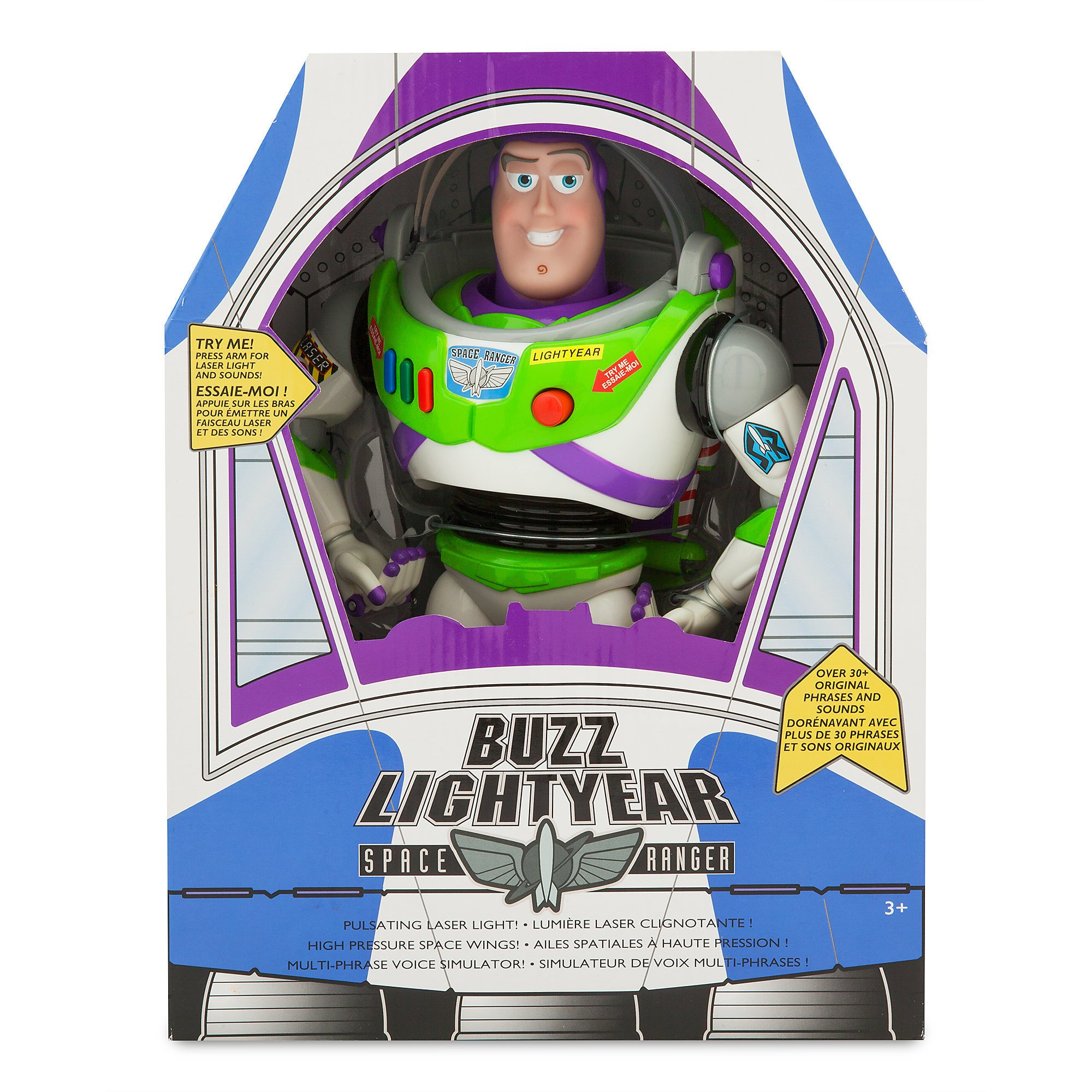 Disney New version Buzz Lightyear Talking Action Figurer 12'' (30 original phrases and sounds)