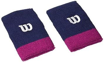 Wilson Extra Wide Wristband Navy Wil/Dark - Muñequera Unisex, Color Azul, Talla OSFA: Amazon.es: Deportes y aire libre