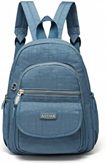 AOTIAN Mini Nylon Casual Lightweight Women and Girls Small Backpacks Purse Daypack Very Handy Bag for Traveling Outing Hiking, Black 7L