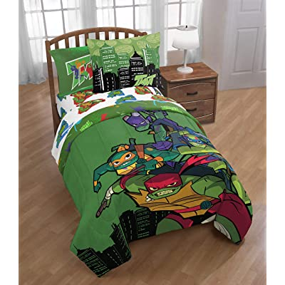 World Class Bargains TMNT Rise of The Teenage Mutant Ninja Turtles 6pc Twin Comforter, Sheet Set and Sham Bedding Collection with Bonus (Color and Play Kit): Home & Kitchen