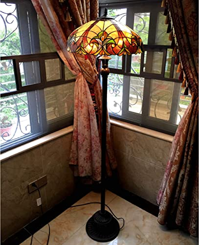 Chloe Tiffany Style Victorian Design 2-Light Bronze Floor Lamp