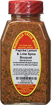 Marshalls Creek Spices Seasoning, Paprika Lemon and Lime Bouquet, XL Size, 12 Ounce