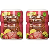 Country Time Strawberry Lemonade Drink Mix 18 Oz (Pack of 2)